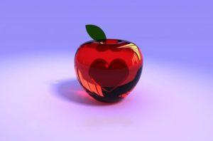 трехмерное яблоко